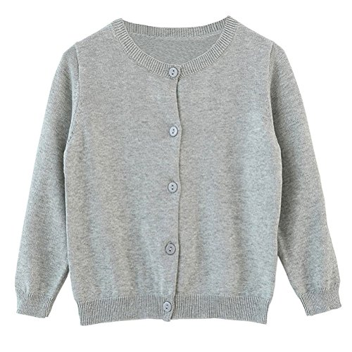 da4304d0f XMWEALTHY Baby Girls  Cute Crew Neck Sweater Soft Solid Knit ...