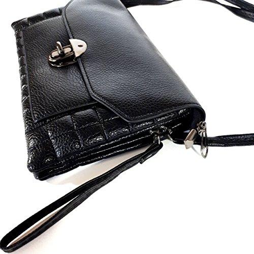 Black Clutch Small Stylish Crossbody or for Purse Wristlet or Bag Women qIwqtUX8