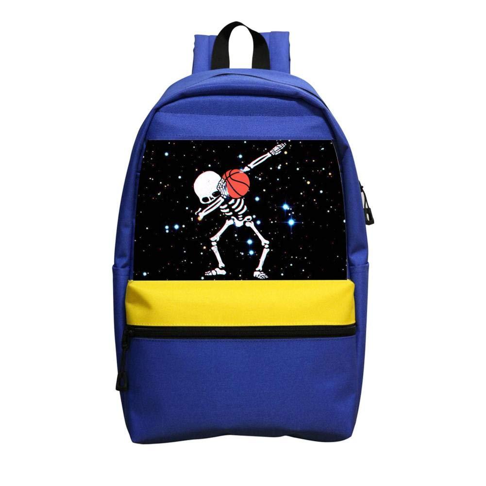 キッズDAB ダビングスケルトン バスケットボール 軽量 スクールバッグ バックパック 男の子 女の子用 ブルー   B07H8TJDWJ