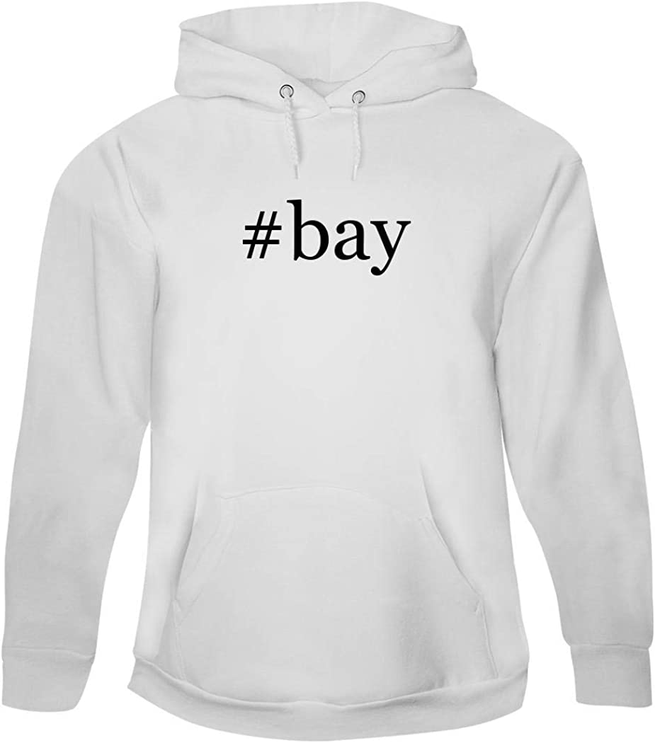 #bay - Men's Hashtag Pullover Hoodie Sweatshirt, White, X-Large