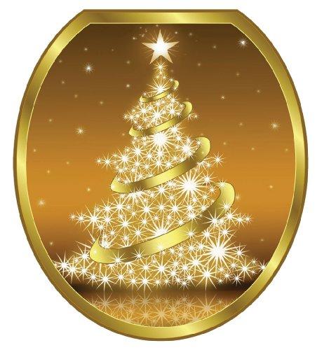 Toilet Tattoos TT-X609-R Gold Christmas Tree Decorative A...