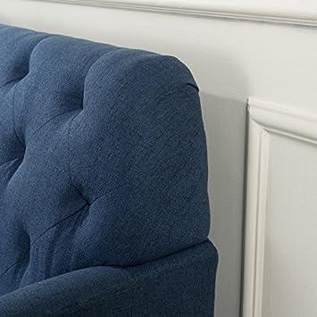 Christopher Knight Home 300068 Jennifer Dark Blue Tufted Fabric Loveseat,
