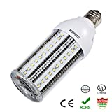 led 15w corn - GTAREN 15W LED Corn Light Bulb for Indoor Outdoor Large Area - UL DLC 5000K Daylight 1500Lm E26 Base,For Street Lamp Post Lighting Garage Factory Warehouse High Bay Barn Porch Backyard.