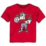NCAA Georgia Bulldogs Toddler Standing Mascot Tee, 2T, Red