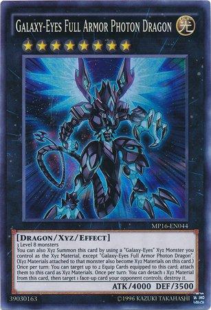 Galaxy-Eyes Full Armor Photon Dragon - MP16-EN044 - Super Rare - Unlimited Edition - Mega Pack 2016 (Unlimited Edition) (Best Galaxy Eyes Photon Dragon Deck)