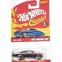 Classics Series 2 -#14 1967 Pontiac GTO Purple 5-Spoke Redlines Mattel Hot Wheels 1:64 Scale Collectible Die Cast Car