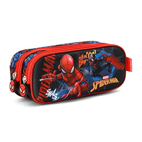 (Karactermania Spiderman Smash-3D Double Pencil Cases, 22 cm, Blue)