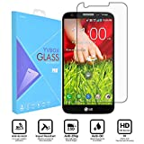 LG G2 Armor Screen Protector, YVBOX 0.26mm 9H Anti-Scratch Shatterproof Ballistics Tempered Glass Screen Protector Film for LG G2 D800 D801 D803 LS980 VS980 - Crystal Clear