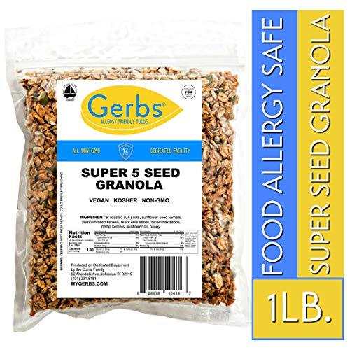 5 Seed n#039 Honey Granola 1 LB Bag  Food Allergy Safe amp Non GMO  Preservative Free amp Kosher pumpkin sunflower chia flax hemp seeds  Product of USA