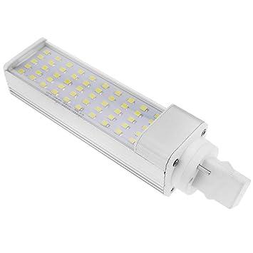 BeMatik - Lámpara de tubo LED PLC G24 85-265VAC 12W Bombilla de luz de