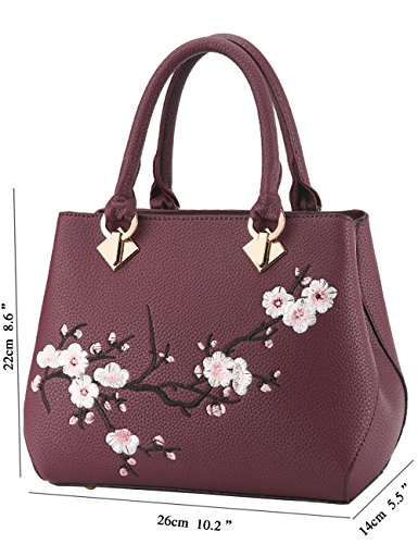 Purple grand PU Sac Ladies bandoulière Purse à Womens bandoulière Sac Leather à Menschwear Noir Oq5U8W