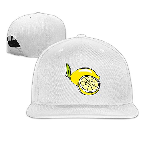 Odr KOPWIEA Mens Delicious Yellow Lemon Funny Basketball White Hat Adjustable Snapback