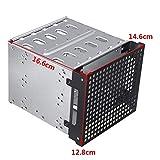 "rwu0 Hard Drive Cage SATA 5.25"" to 5X 3.5 Rack PC"