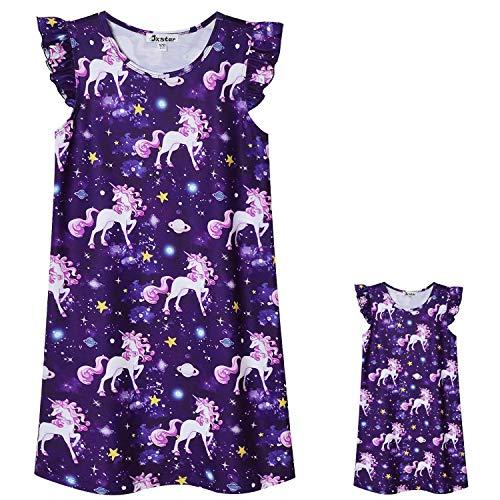 Matching American Girls & Dolls Nightgowns Unicorn Sleepwear Pajamas Dress 6 7