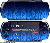 Sony PSP 3000 Decal Style Skin - Fire Blue (OEM Packaging)