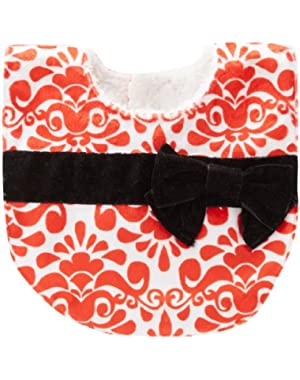 Baby-Girls Newborn Red Damask Bib