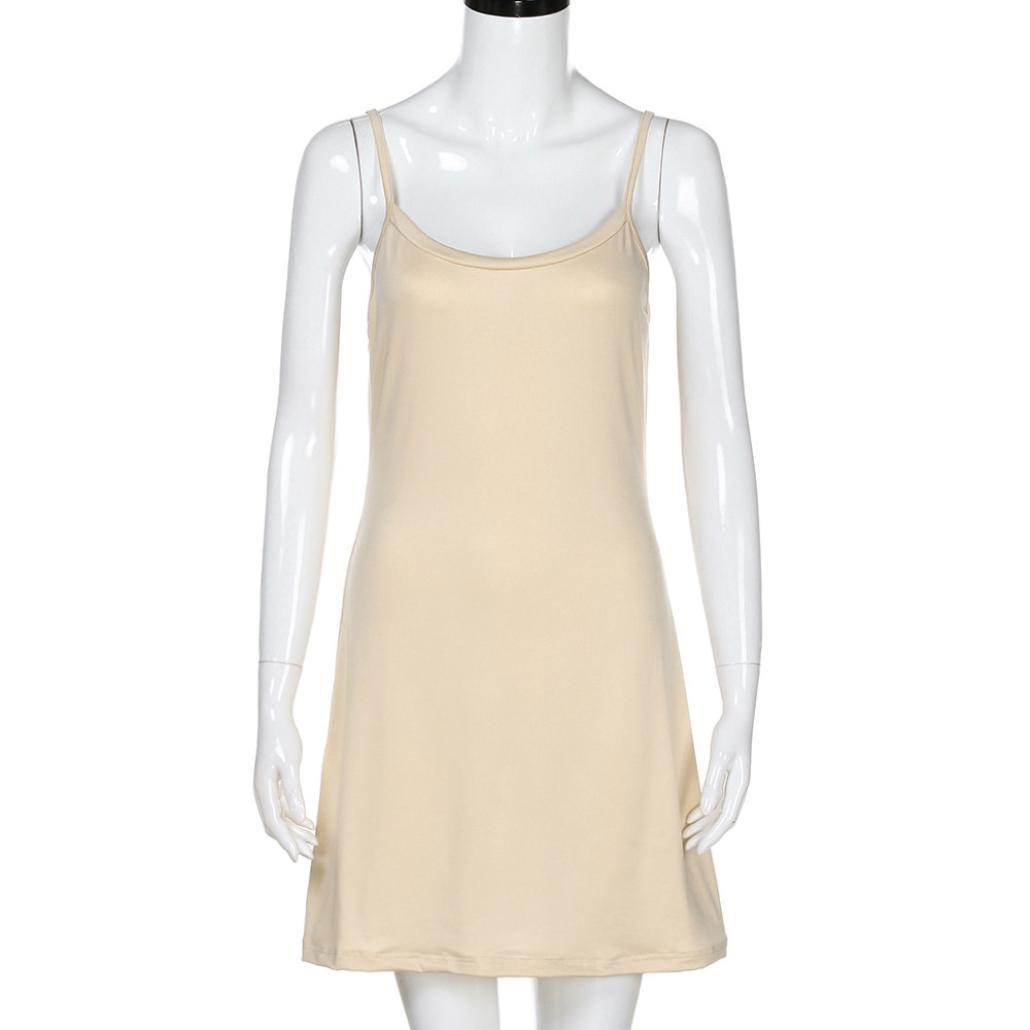 6f0dbfae227b OVERMAL Robe de femme Sans bretelles, Mode Des Femmes Femmes La Robe Sans  Manches Au Dessus ...