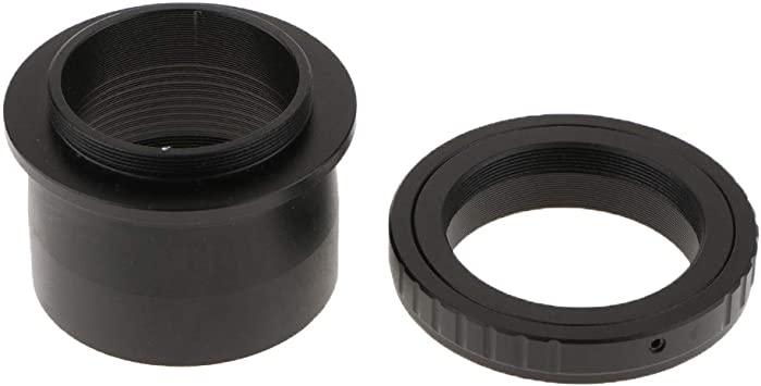 2 to T2 M420.75 Thread Telescope Mount Adapter Accept 2-inch Filter Black