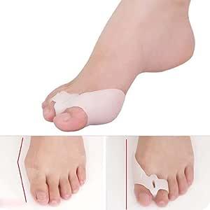 2pcs protectores de para dedo del pie alisador férula