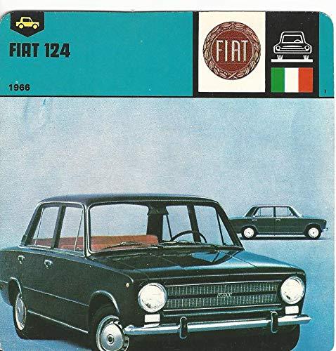- 1978 Edito-Service, Automobile Rally Card, 32.08 Fiat 124 Car