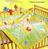 12pcs Deluxe Sesame Street Elmo Baby Crib Bedding Set Musical Mobile, Rug, Towel + Extras