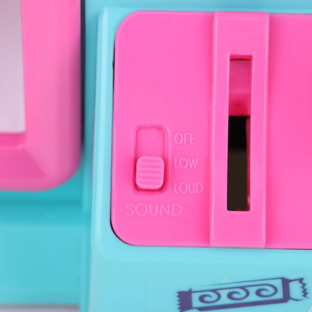 Zerodis Coin Claw Machine Portable Electronic Dolls with USD Light for Children Over 3 Years (Pink) by Zerodis (Image #9)