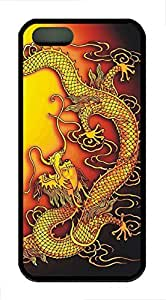 Brian114 iPhone 5S Case - China Dragon Oriental Style 29 Back Case Cover for iPhone 5 5S Soft Rubber Black Cases