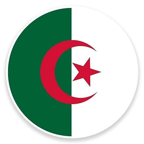 2 x bandera Argelia tarjeta adhesivo de vinilo para ordenador portátil viaje equipaje coche Panel iPad