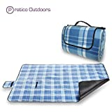 Extra Large Picnic Blanket & Outdoor Beach Blanket - Blue 60 x 80 Inches