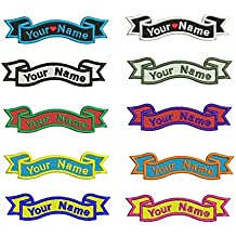 Custom Name Tag Embroidered Patch Sew or Iron on Clothing and Hats Any fonts and Sizes are Available Patch