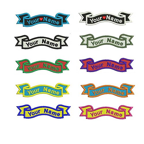 Name Embroidered Patches - 1