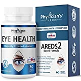 Areds 2 Eye Vitamins [Clinically Proven] Lutein and Zeaxanthin Supplement Lutemax 2020; Supports Eye Strain, Dry Eye, Eye and Vision Health, 2 Award Winning Eye Ingredients Plus Bilberry Extract