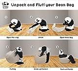 Panda Sleep Beige Oversized Bean Bag Chair