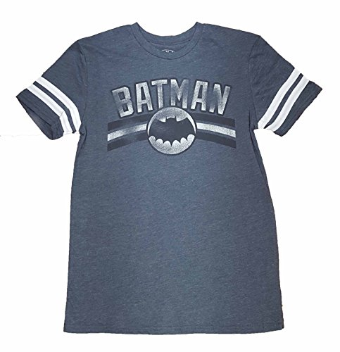 DC Comics Batman Logo Vintage Distressed Ringer Graphic T-Shirt - Small - Batman Ringer T-shirt