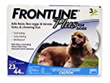 Merial Frontline Plus Flea and Tick Control for 23 to 44-Pound Dogs and Puppies, 3 Doses