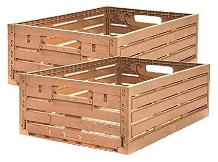 2 Stk fruta caja – Almacenamiento caja madera diseño manzana caja 600 x 400 x 218 Mm invitados Lando: Amazon.es: Industria, empresas y ciencia