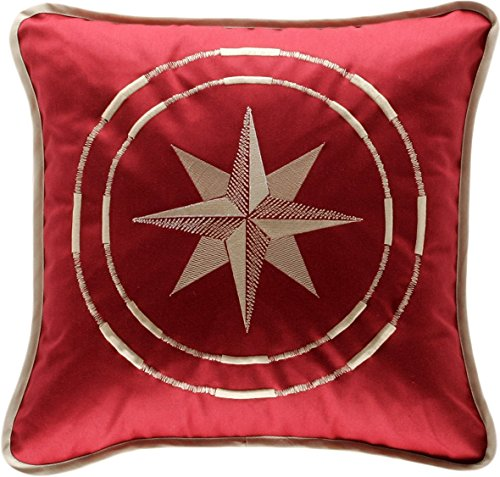 MB Coastal Designs North Star Throw Pillow, Burgundy