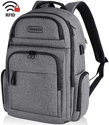KROSER Backpack Computer Water Repellent Women Grey product image