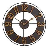 Studio Designs Home Industrial Loft 15 Inches Metal Wall Clock, Dark Bronze