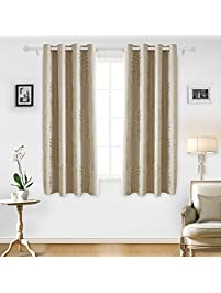 Deconovo Shimmering Circle Pattern Gold Foil Curtain Thermal Blackout  Curtains Insulated Curtains And Drapes For Living Amazing Ideas