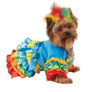 Casual Canine ZW4238 16 19 Polly Parrot Costume, Medium, Blue