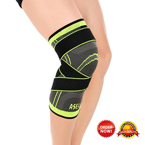 Knee Sleeve, Compression Fit Support -for Joint Pain and Arthritis Relief, Improved Circulation Compression - Wear Anywhere - Single (Large) (Single Wear)