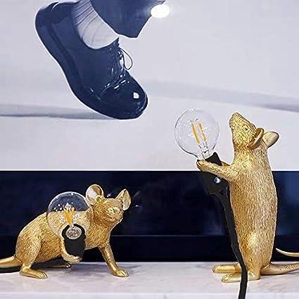 Lanbowo Table Lamp Mouse Shape Resin Desk Light Bedside Lamp Light Home Room Decor