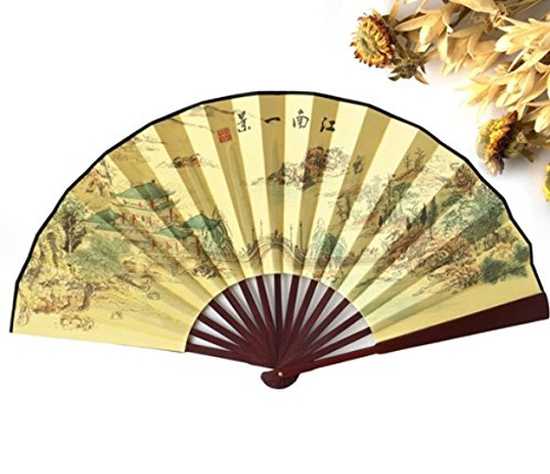 Dragonfly Man Costume - 100% Polyester Wood Hand Fans Chinese Vintage Fancy Dress Costume Men'S Decorations Craft Supplies Gift Party Decoration