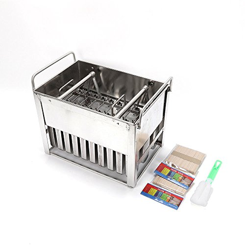 Ice Basket Mold (30 PCS Stainless Steel Molds Ice Lolly Popsicle Mold Ice Cream Stick Holder DIY 30 Popsicle Mold Basket)