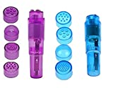 Finever Portable Mini Beauty Facial Massagers Travel Massager Tool for Facial,Head,Eyes(Purple Blue)