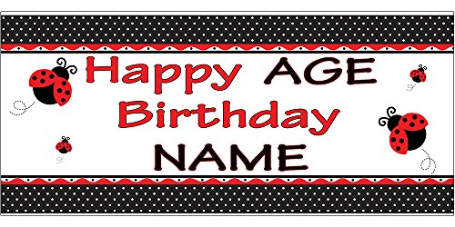 PERSONALIZED LADYBUG FANCY BANNER (18