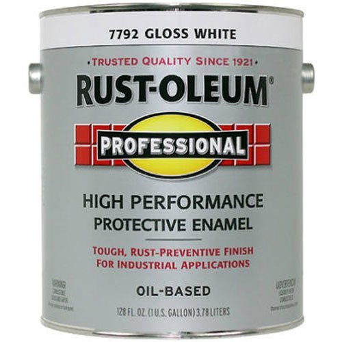 - RUST-OLEUM K7792-402 K7792402 Professional Gallon White Gloss Enamel,