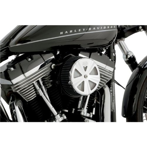 Vance & Hines VO2 Skullcap Crown Air Cleaner Insert Vented Chrome 71017 ()