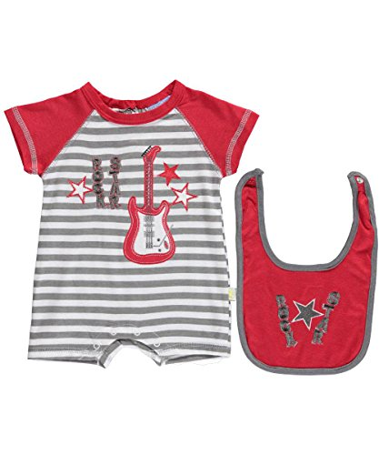 """Duck Duck Goose Baby Boys' """"Guitar Star"""" 2-Piece Outfit - gray, 3 - 6 months"""